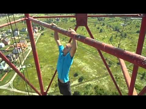 mad Russian with balls of steel - i hate heights my nerves were shot after watching this ;(