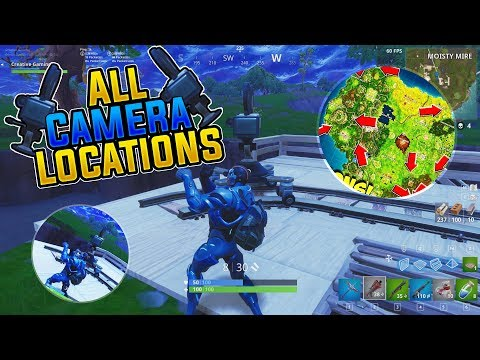 Fortnite ALL Camera Locations MAP L Dance In Front Of 7 Different Cameras Challenge  L Season 4