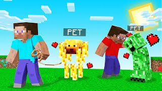 Minecraft But EVERY Mob Is A PET! (adorable)