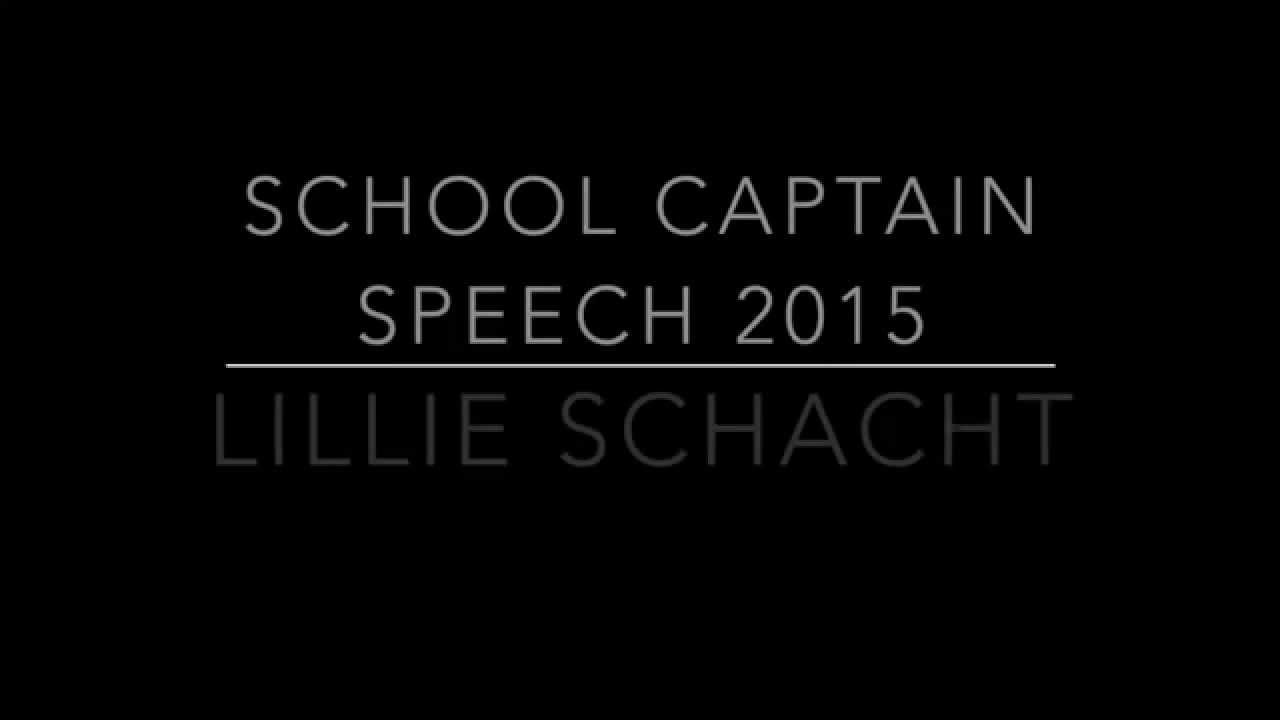 school captain speeches for high school