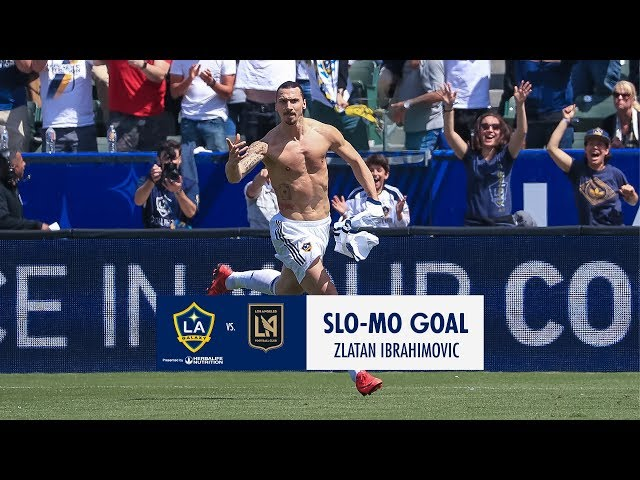 SLO-MO: Zlatan Ibrahimovic equalizes with a stunning volley in LA Galaxy debut