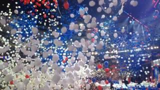 Balloon drop after Hillary Clinton accepts nomination