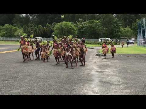 The traditional Welcome dance of Manus tribe, Papua New Guinea