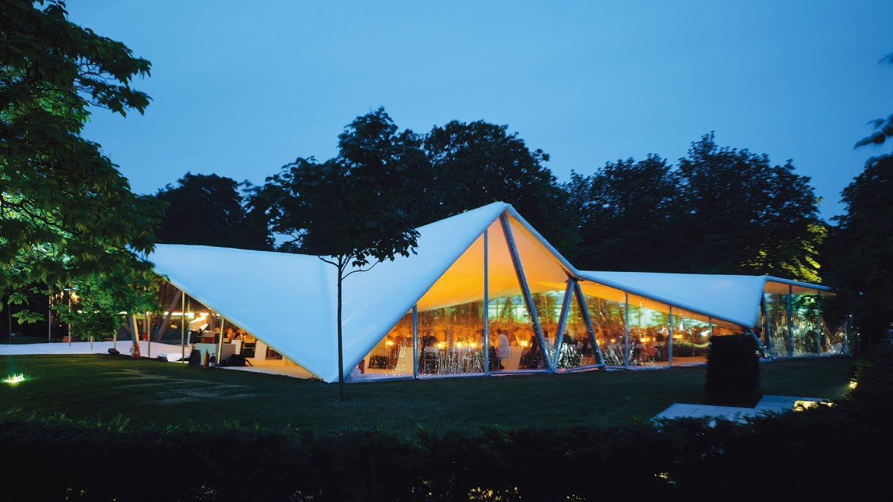 Serpentine Gallery Pavilion 2000 By Zaha Hadid Youtube