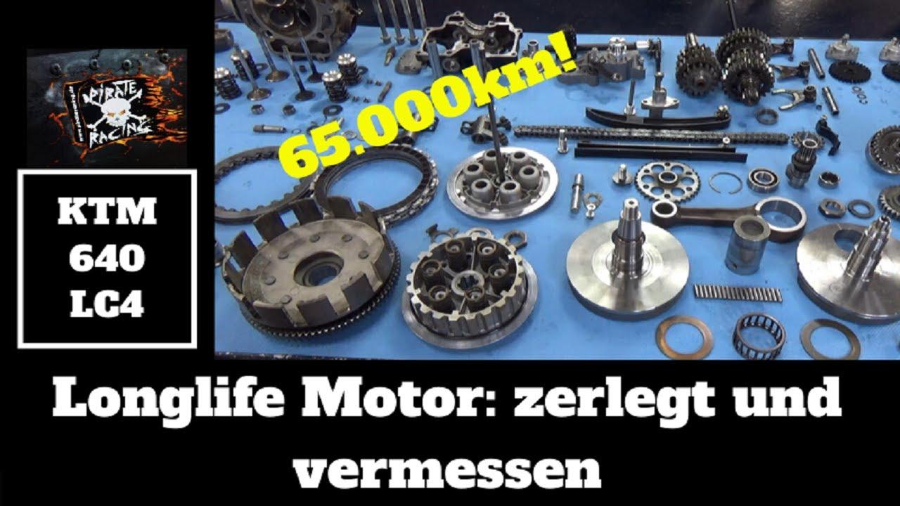 KTM LC4 640 Longlife Motor - 65.000km - zerlegt und vermessen 😅⛏🔧