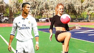Even RONALDO says that SHE is BETTER THAN HIM!!