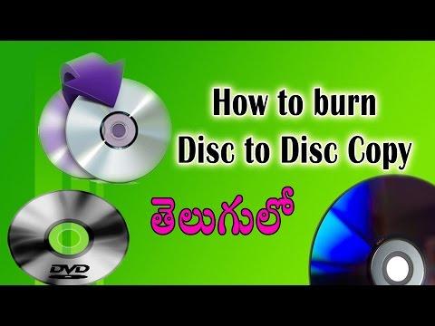 Cd or Dvd Disc to Disc copying (Burning) process in telugu using nero 10
