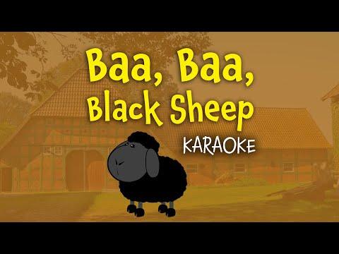 Baa, Baa, Black Sheep (instrumental - lyrics video for karaoke)