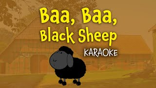 Baa, Baa, Black Sheep (instrumental - lyrics video for karaoke)