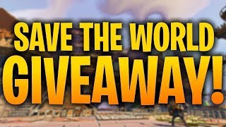 Fortnite save the world live giveaway 3x the loot