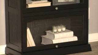 Bradshaw 2 Tier Barrister Bookcase Black - Product Review Video