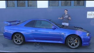 heres a tour of a usa legal r34 nissan skyline gt r
