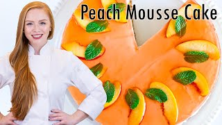 Peach Mousse Cake - (almost) No-bake Cake