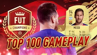 BACK-TO-BACK TOP 100 PLACEMENT WHEN THE GOAT ARRIVES - FIFA 20 FUT CHAMPIONS HIGHLIGHTS