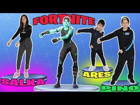 FORTNITE DANCE CHALLENGE!!! BAILES DE FORTNITE EN LA VIDA REAL #1 ¿Quién baila mejor?