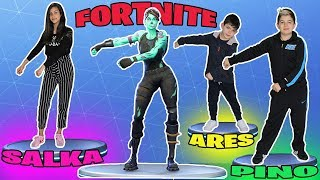 FORTNITE DANCE CHALLENGE!!! FORTNITE BAILES IN REAL LIFE #1 Qui danse le mieux?