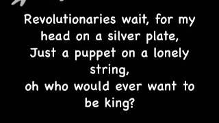 Repeat youtube video Viva La Vida by Coldplay Lyrics