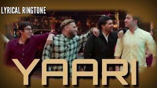 Guru Randhawa Yaari Song Lyrical Ringtone||Guru Randhawa New Song 2019