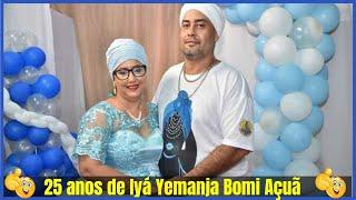 Casa Africana Reino De Yemanja e Xangô  25 anos de Iyá Yemanja Bomi Açuã Mãe Andreia de Iemanjá