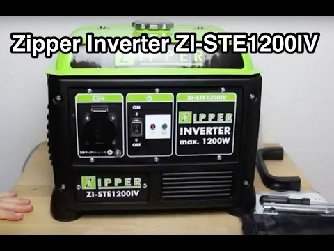 zipper inverter zi ste1200iv stromerzeuger aggregat youtube. Black Bedroom Furniture Sets. Home Design Ideas