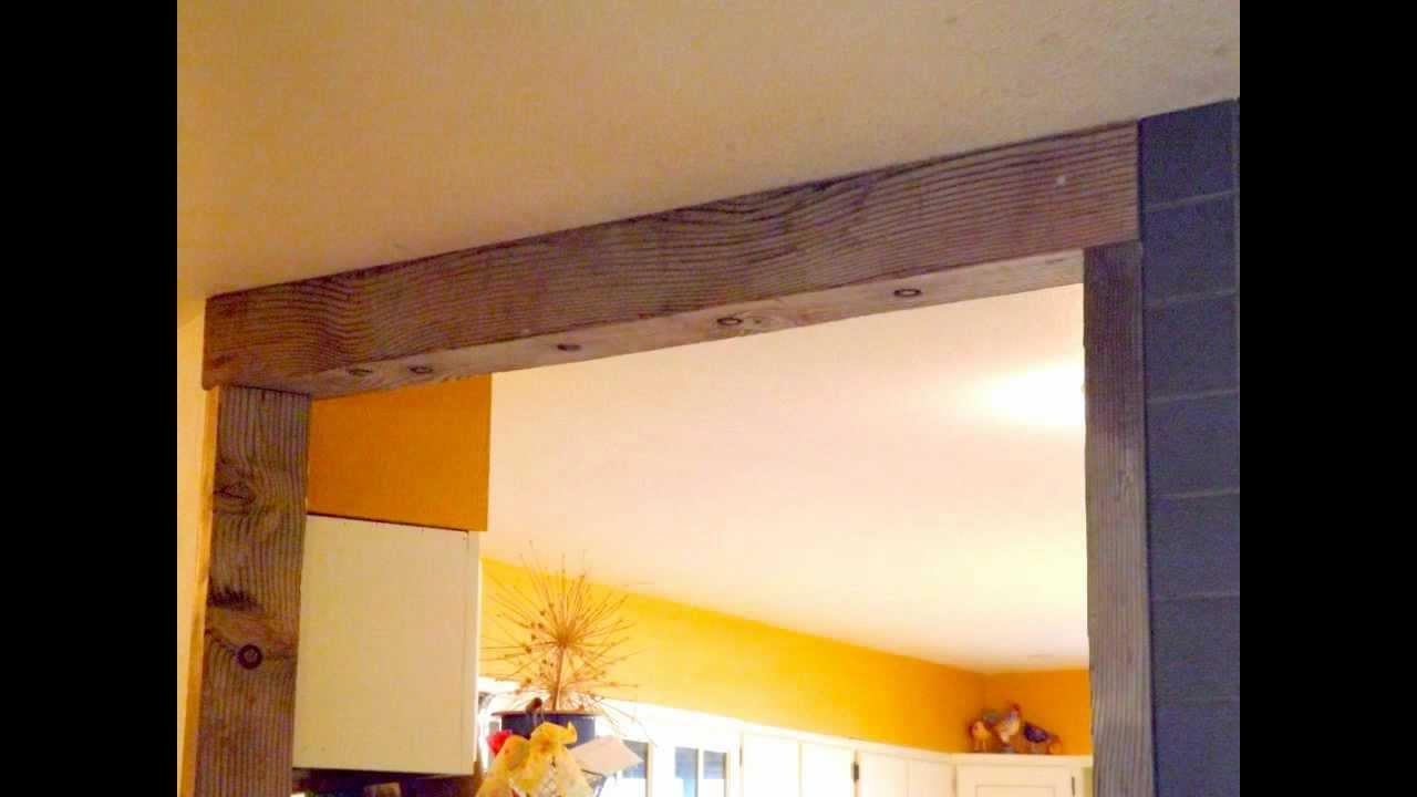 Diy Country Door Frame Moldura Para Entrada De Cozinha