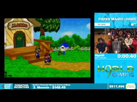 Paper Mario by GigaDB in 3:04:16 - Awesome Games Done Quick 2016 - Part 121