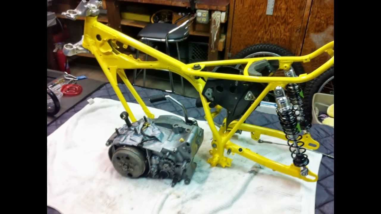 small resolution of 1974 yamaha ty250 frame up rebuild of manybikes