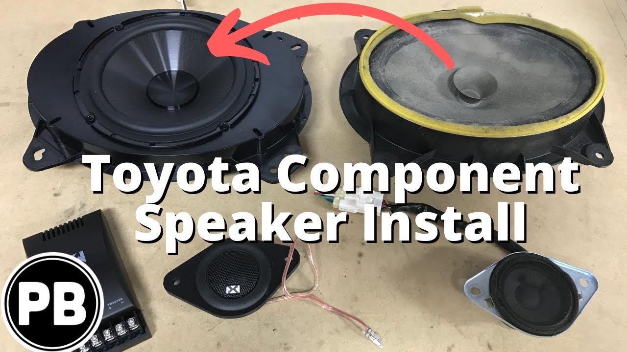 toyota tacoma 4runner component speaker install youtube. Black Bedroom Furniture Sets. Home Design Ideas