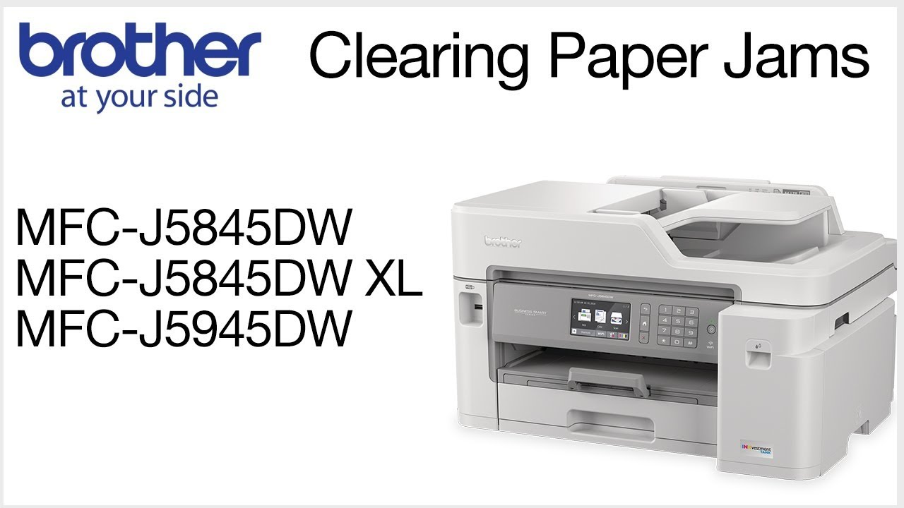Paper jam errors MFCJ5845DW or MFCJ5945DW