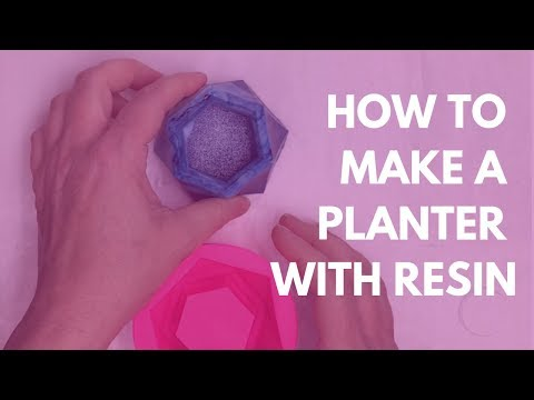 How to make a cactus planter - easy DIY resin project