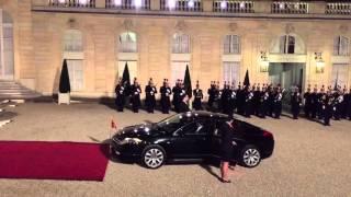 State banquet at the Elysée Palace, Paris