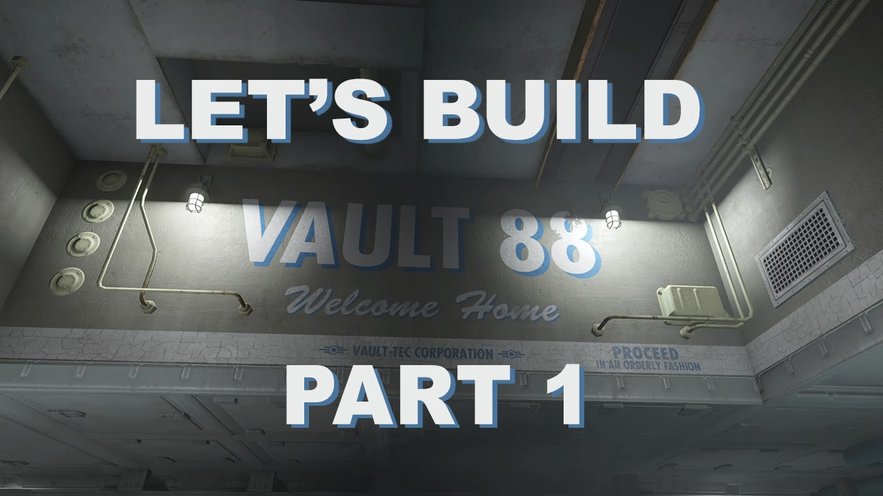 Fallout 4 let 39 s build vault 88 part 1 youtube for Fallout 4 bedroom ideas