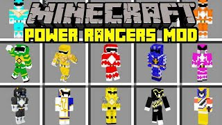 Minecraft POWER RANGERS MOD  TURN  NTO NEW POWER RANGERS and MORE  Modded Mini Game