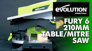 Evolution Fury6: 210mm Multipurpose Table & Compound Mitre Saw