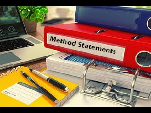 How to Write a Method Statement