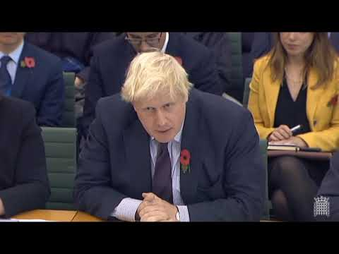 Boris Johnson is evasive in front of Foreign Affairs Committee