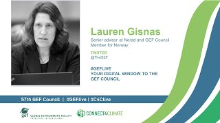 Lauren Gisnas at GEF Live - Your digital window to the 57th Council