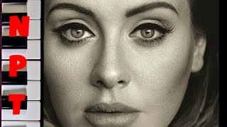 Adele - All I Ask Karaoke - Full Instrumental Backing Track - Piano Cover