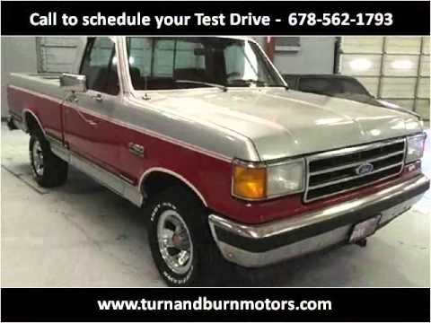 1990 ford f150 used cars conyers ga youtube for Turn and burn motors