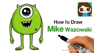 How to Draw Mike Wazowski Easy | Monster's Inc.