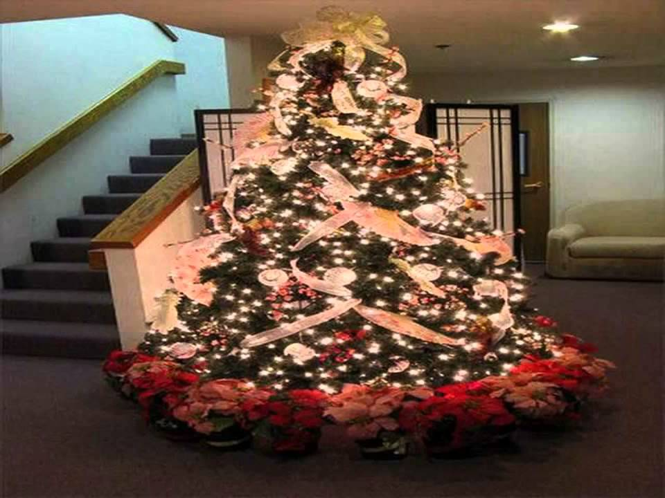 Christmas Tree Decorating Ideas With Ribbon Best Design