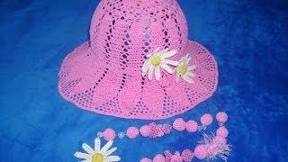 Летние вязаные шапочки и береты