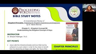 2021_0107 PWAM Bible Study: Kingdom Principles - Chapter 9 - KINGDOM KEYS - Part 1