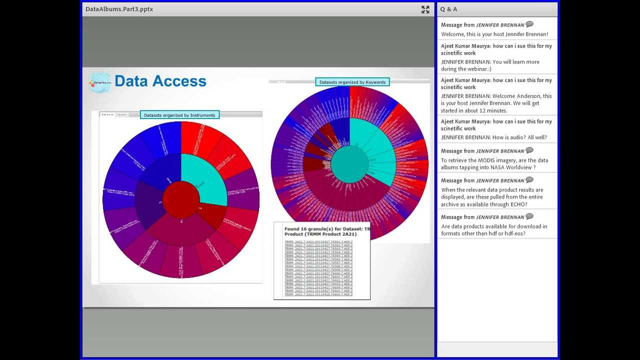 NASA Earthdata Webinar: Data Albums: An Event Driven Data Discovery and  Access Tool