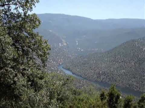 Motorcycle tour of the Geographic Center of California San Joaquin River Auberry North Fork