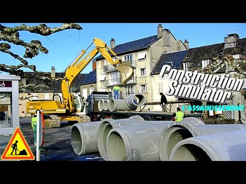 Construction Simulator 2015 Assainissement Chantier Travaux