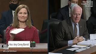 WATCH: Sen. John Cornyn questions Supreme Court nominee Amy Coney Barrett