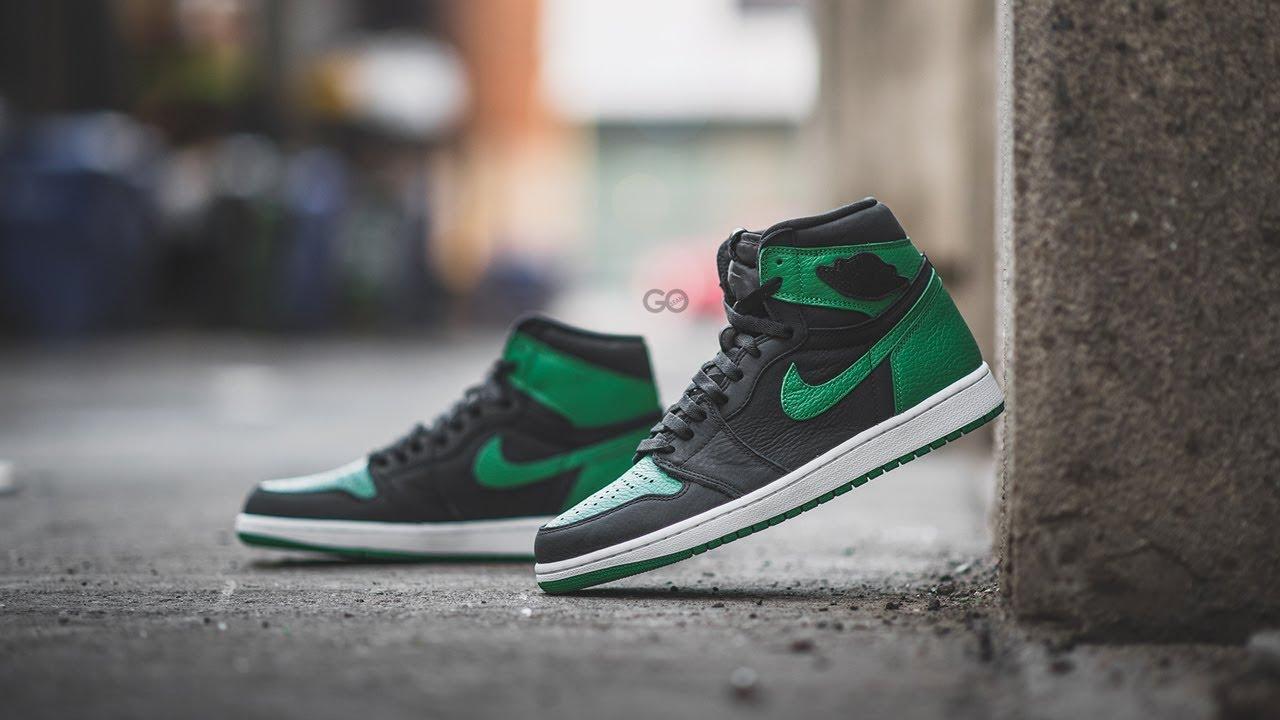 Air Jordan 1 Retro High Og Black Pine Green Review On Feet