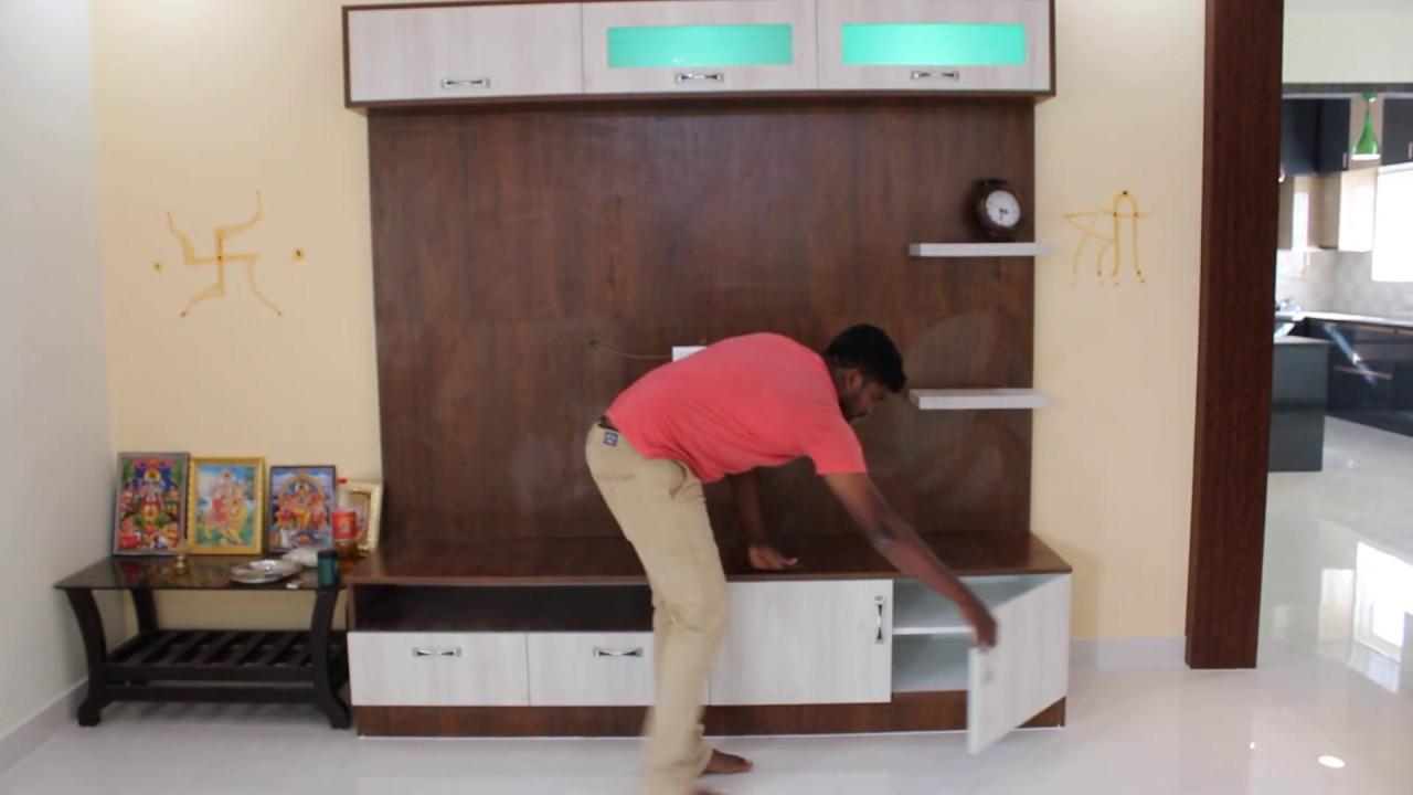 Tv Unit Design For Living Room Woodlab Interiors Best Interior Designers In Bangalore Youtube