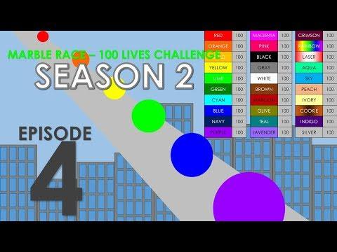 Marble Race - 100 Lives! Season 2 - Part 4
